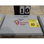 "Lot 10 - VERMONT GAGE PIN SET .251"" TO .500"" PLUS SET"