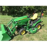 Lot 8 - 2014 JD 1025R 4WD compact tractor with only 209 hours