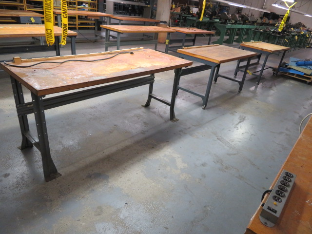"72"" AND (2) 60"" SHOP TOP WORKBENCHES"