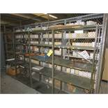 """(10) SECTIONS OF 36"""" X 18"""" STEEL SHELVES"""