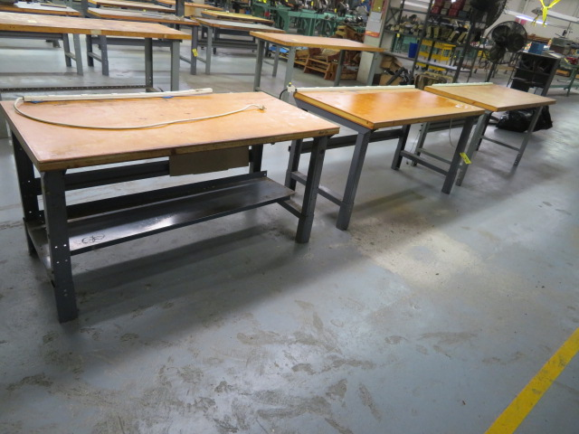 """(3) 60"""" SHOP TOP WORKBENCHES"""