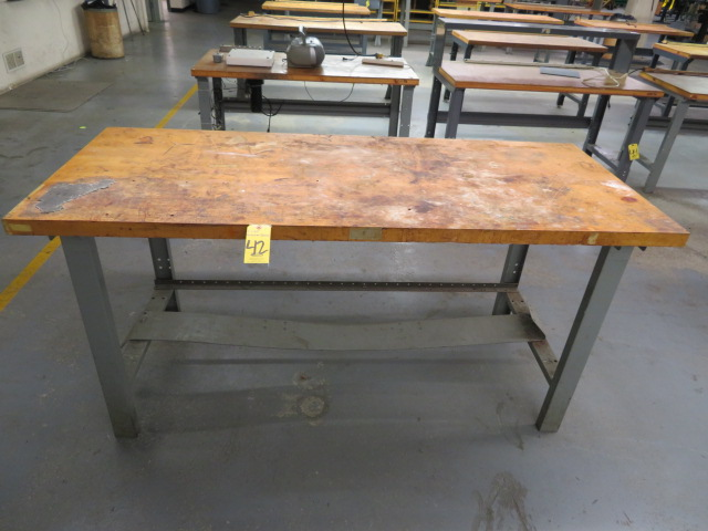 "30"" X 72"" BUTCHER BLOCK TOP WORKBENCHES"