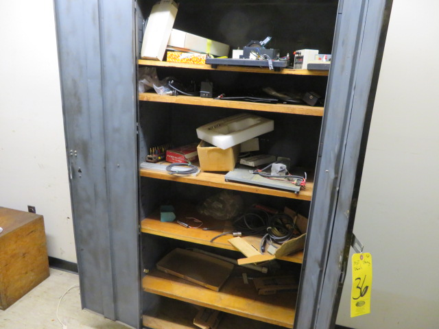 (3) DBL DOOR SUPPLY CABINET, STEEL SHELF UNIT AND CONTENTS - Image 2 of 2