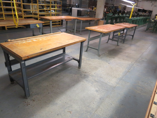 """72"""" AND (2) 60"""" SHOP TOP WORKBENCHES"""