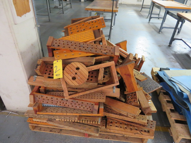 ASSORTED WOOD TRAYS FOR COMPONENTS