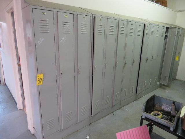 (12) FULL DOOR LOCKERS