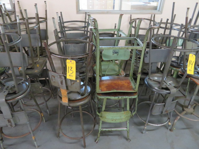 (12) ASSORTED SHOP STOOLS
