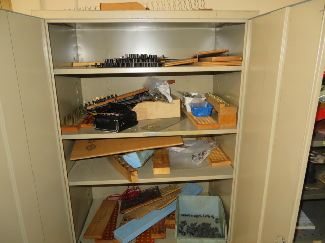 DBL DOOR SUPPLY CABINET AND STEEL SHELF UNIT W/CONTENTS - Image 2 of 2