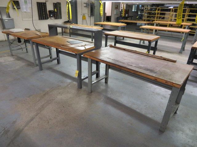 "(3) 60"" SHOP TOP WORKBENCHES"