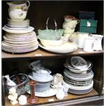 An Alfred Meakin part dinner service and a quantity of china and glass, various