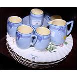 """Six Minton """"Dainty Sprays"""" pattern dinner plates and a Minton """"Isis"""" pattern coffee set"""