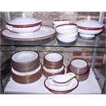 "A Royal Worcester ""Medici"" pattern bone china dinner service"