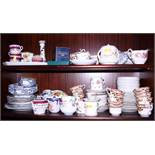 A Carlton ware conserve pot, a quantity of part tea services and other decorative china