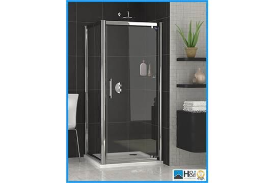Showerlux Legacy Pivot Door 1900mm x 760mm...T6 Tempered Glass...Chromium Plated Framing...Adjust  sc 1 st  Bidspotter UK & Showerlux Legacy Pivot Door 1900mm x 760mm...T6 Tempered Glass ...