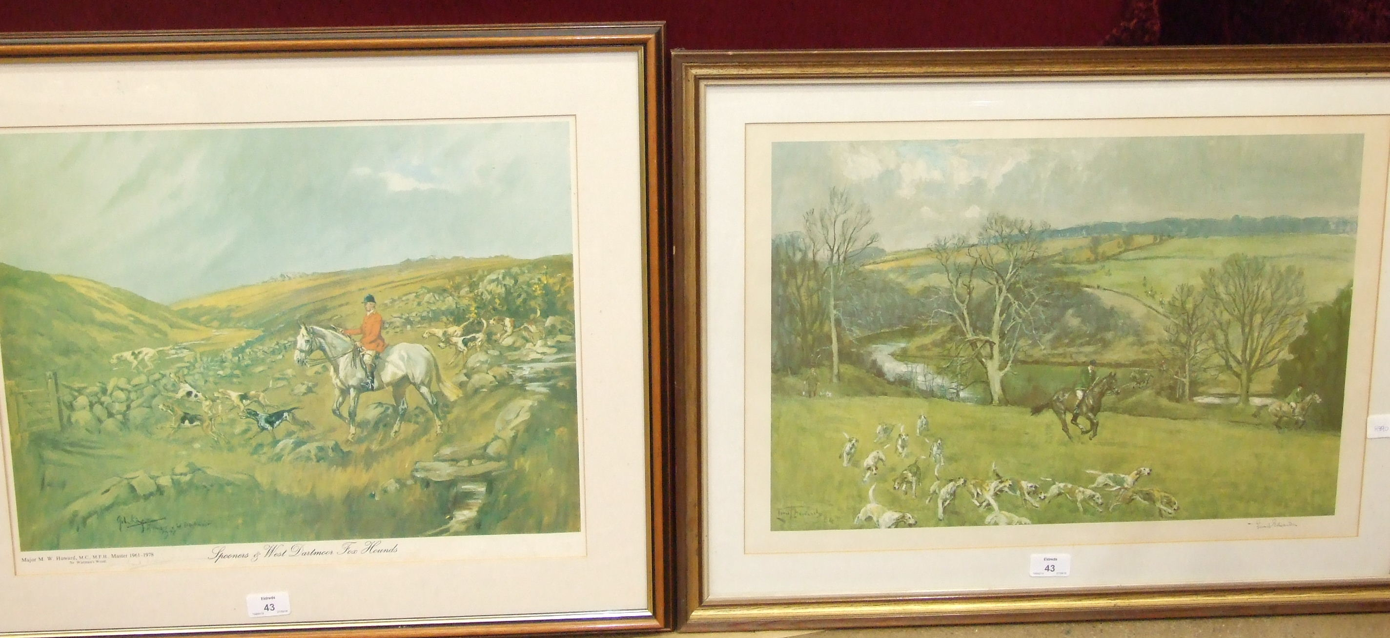 Lot 43 - After Lionel Edwards, 'The Rockwood 1945', a hunting print signed in pencil within margin, 27.5 x