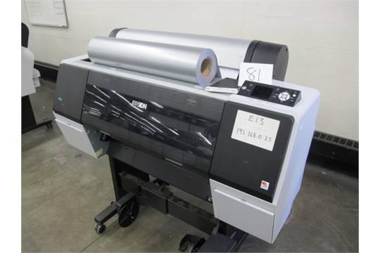 2011 Epson Stylus Pro 7900 Wide Format Printer Model K161A s/n JHE011569