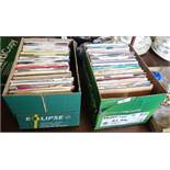 Two boxes of assorted vinyl singles