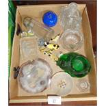 Small quantity of assorted glass, inc. paperweights