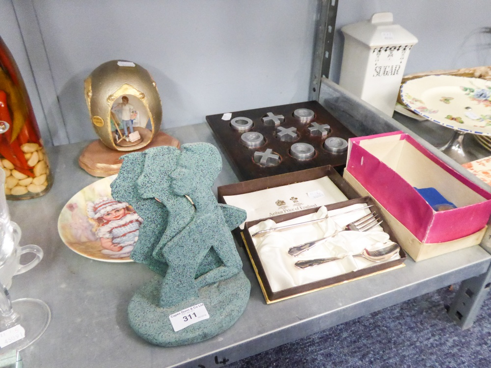 Lot 311 - ARTHUR PRICE BOXED EP CHILD'S KNIFE, FORK AND SPOON, 11 ELIZABETH II 1977 SILVER JUBILEE CROWN