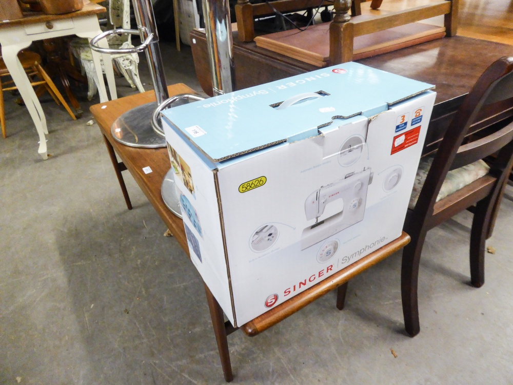 Lot 116 - SINGLE 'SYMPHONIC' ELECTRIC PORTABLE SEWING MACHINE (BOXED)