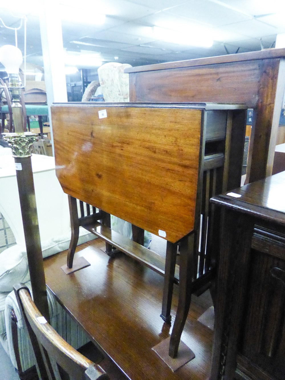 Lot 86 - VICTORIAN MAHOGANY SUTHERLAND TABLE WITH SOLID UNDERTIER