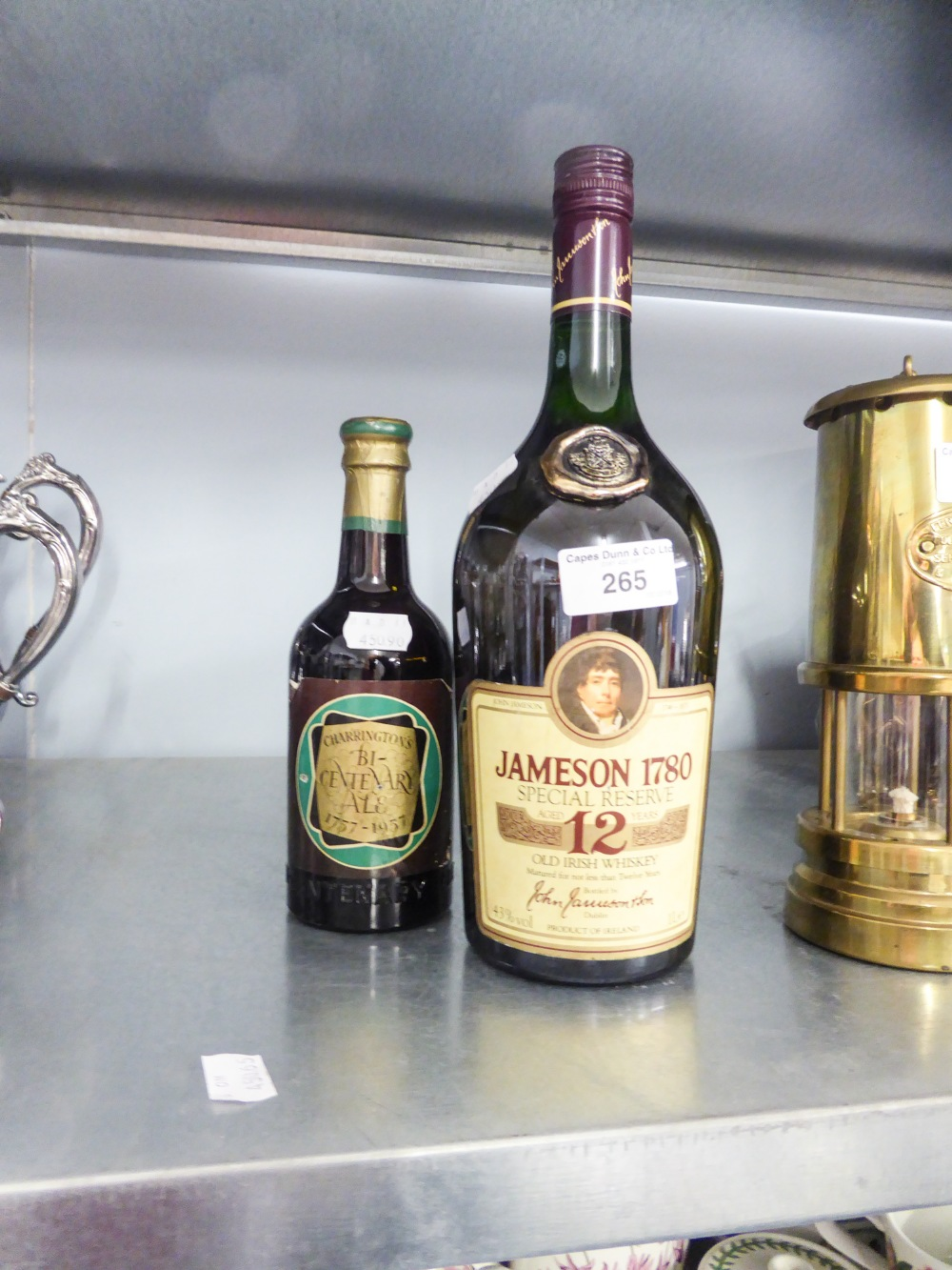 Lot 265 - A BOTTLE OF JAMESON 1780 SPECIAL RESERVE 12 YEAR WHISKEY AND A BOTTLE OF CHARRINGTON'S BI-