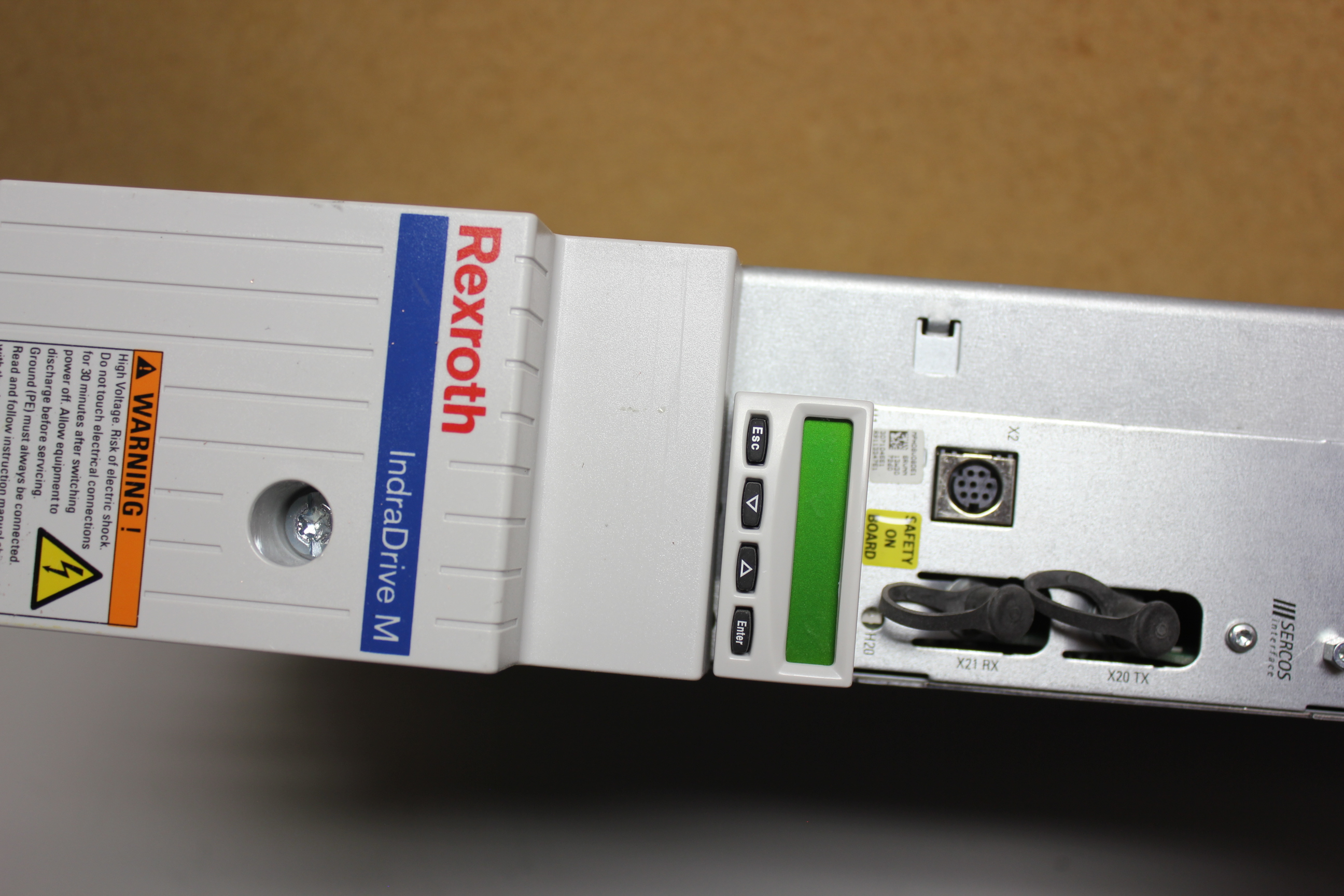 REXROTH INDRADRIVE M SINGLE AXIS INVERTER WITH SERCOS MODULE - Image 2 of 7