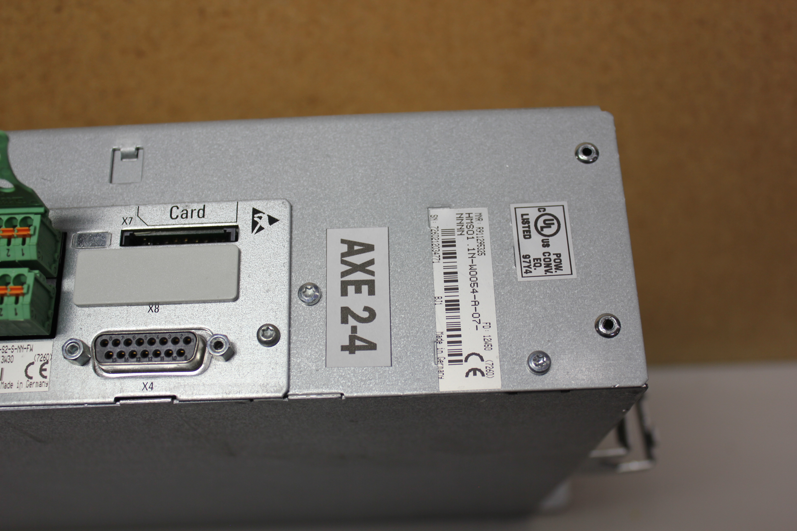 REXROTH INDRADRIVE M SINGLE AXIS INVERTER WITH SERCOS MODULE - Image 5 of 7