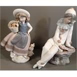 Vintage Pair Lladro & Nao Figures