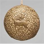 "A GLOBULAR ""QILIN"" BRASS LANTERN, QING DYNASTY Embossed, incised and cut thin sheet brass."