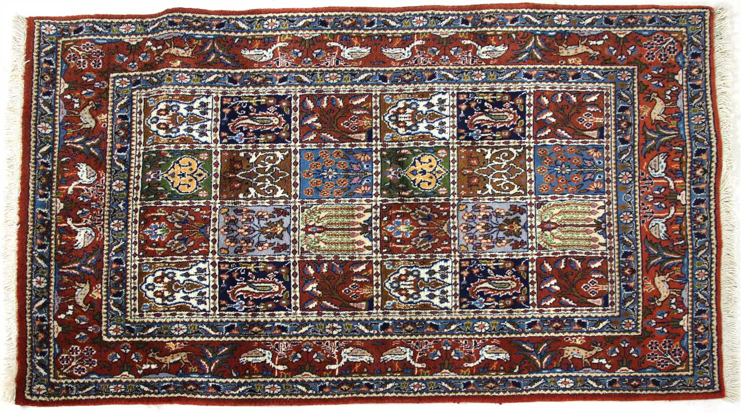 Lot 668 - An Eastern pictorial rug,