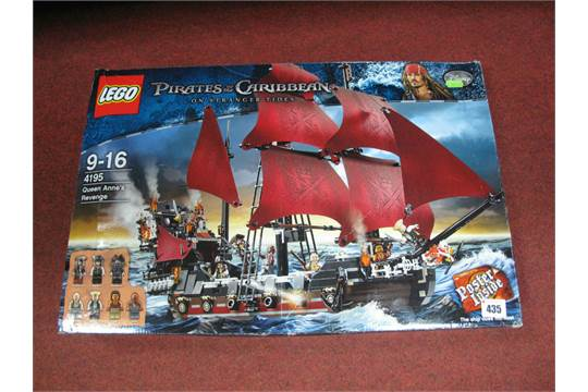A Boxed Lego 4195 Pirates Of The Caribbean Queen Anne39s Revenge