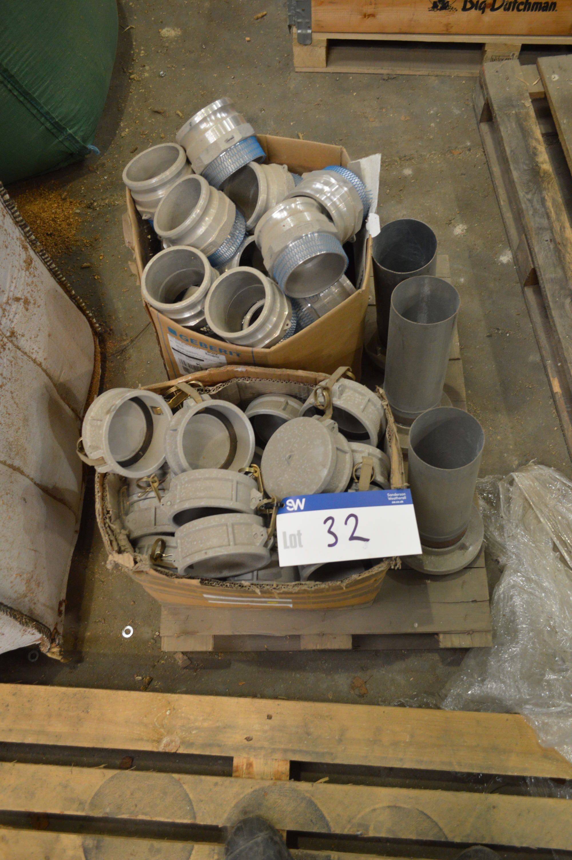 Lot 32 - Assorting Pipe Couplings, on one pallet