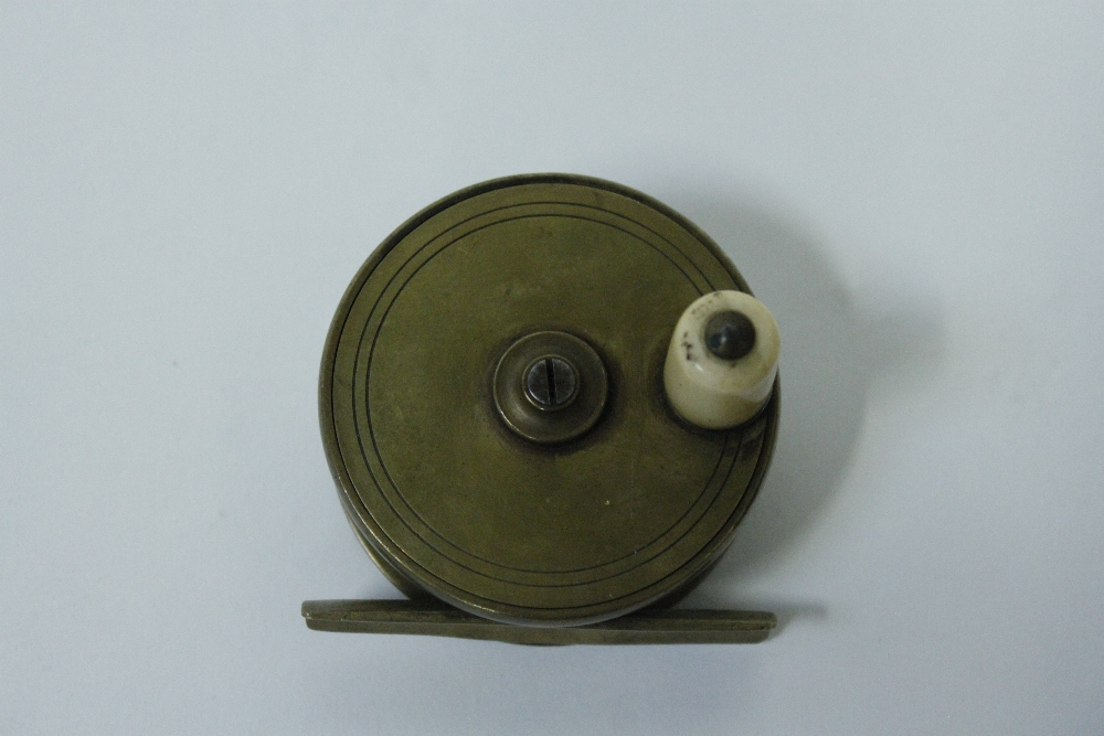 A 20th century brass fishing reel for 13 fishing origin c
