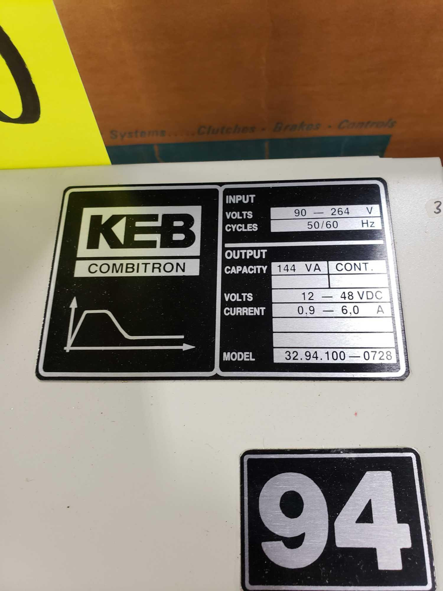 KEB Combitron drive model 32.94.100-0728, 90-264v input, 12-48vdc volt output. New as pictured. - Image 2 of 3