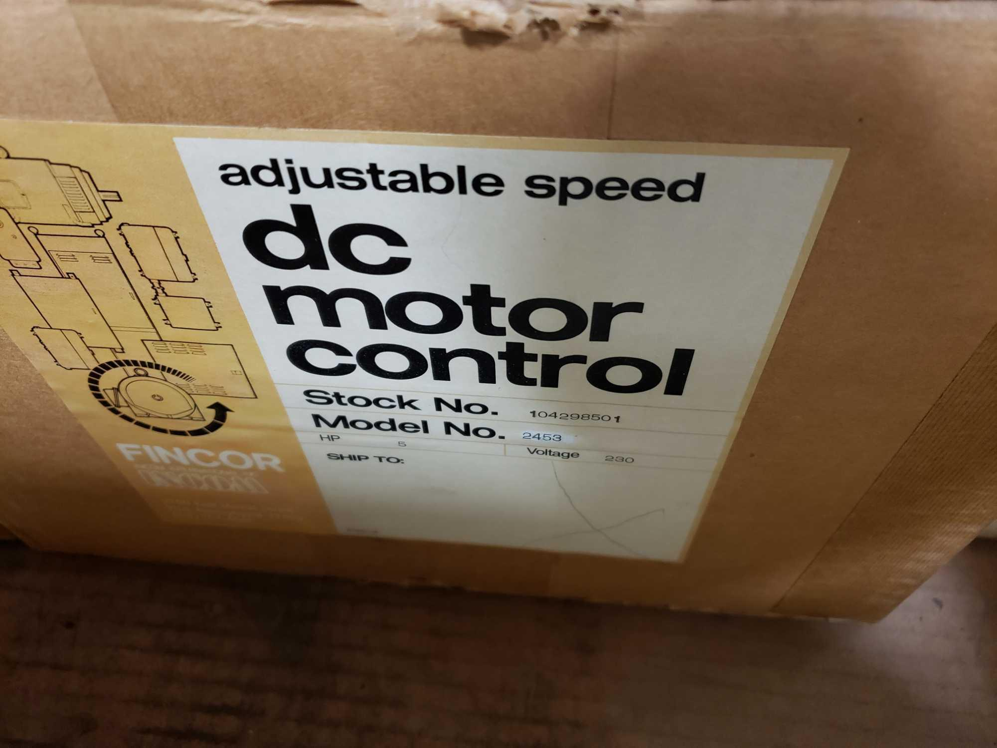 Fincor DC motor control model 2450 MKII part number 2453, 5hp 230v. New in box. - Image 2 of 3