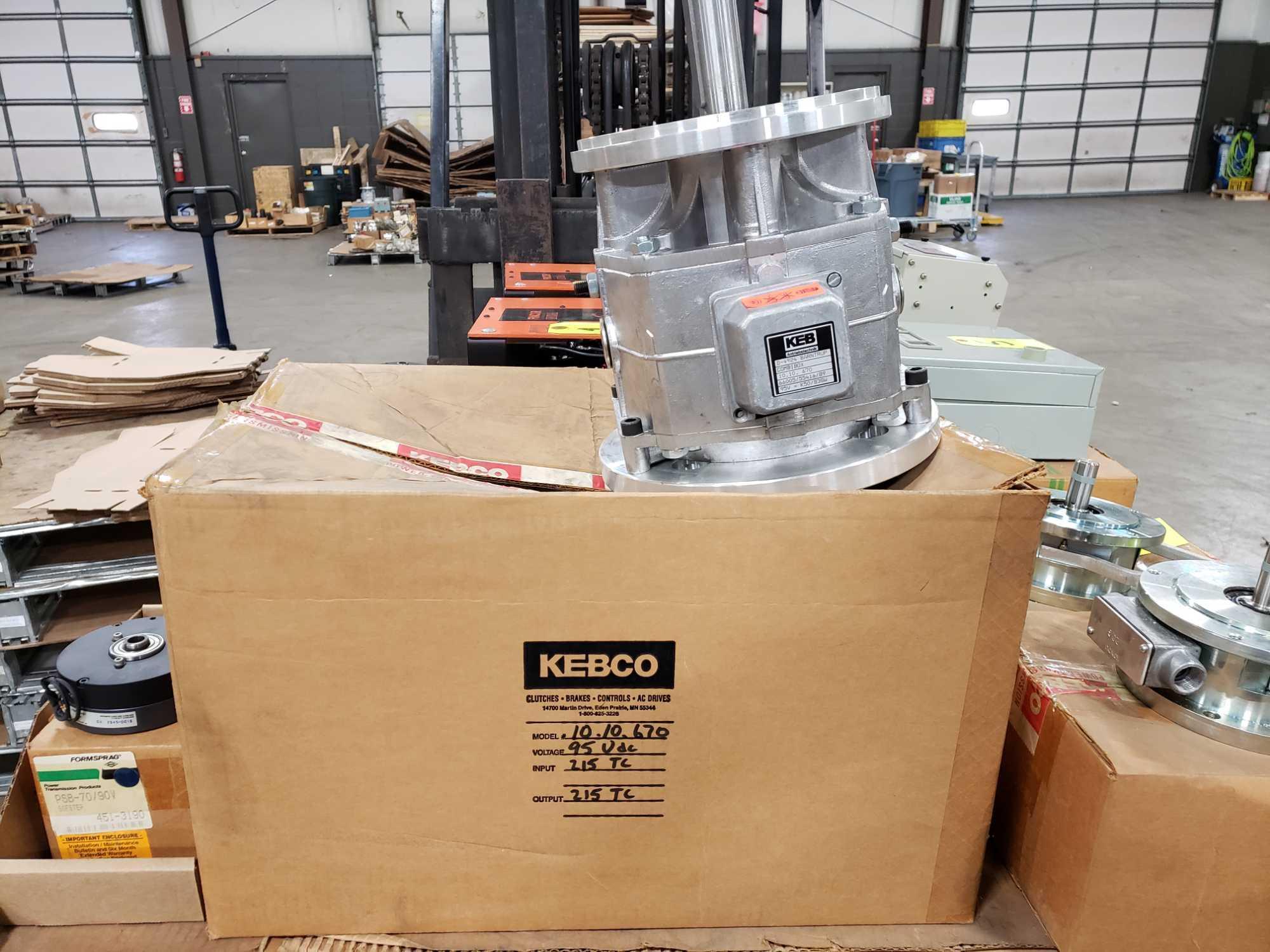 KEB Combibox model 10.10.670, 95vdc, input 215tc, output 215tc. New in box.