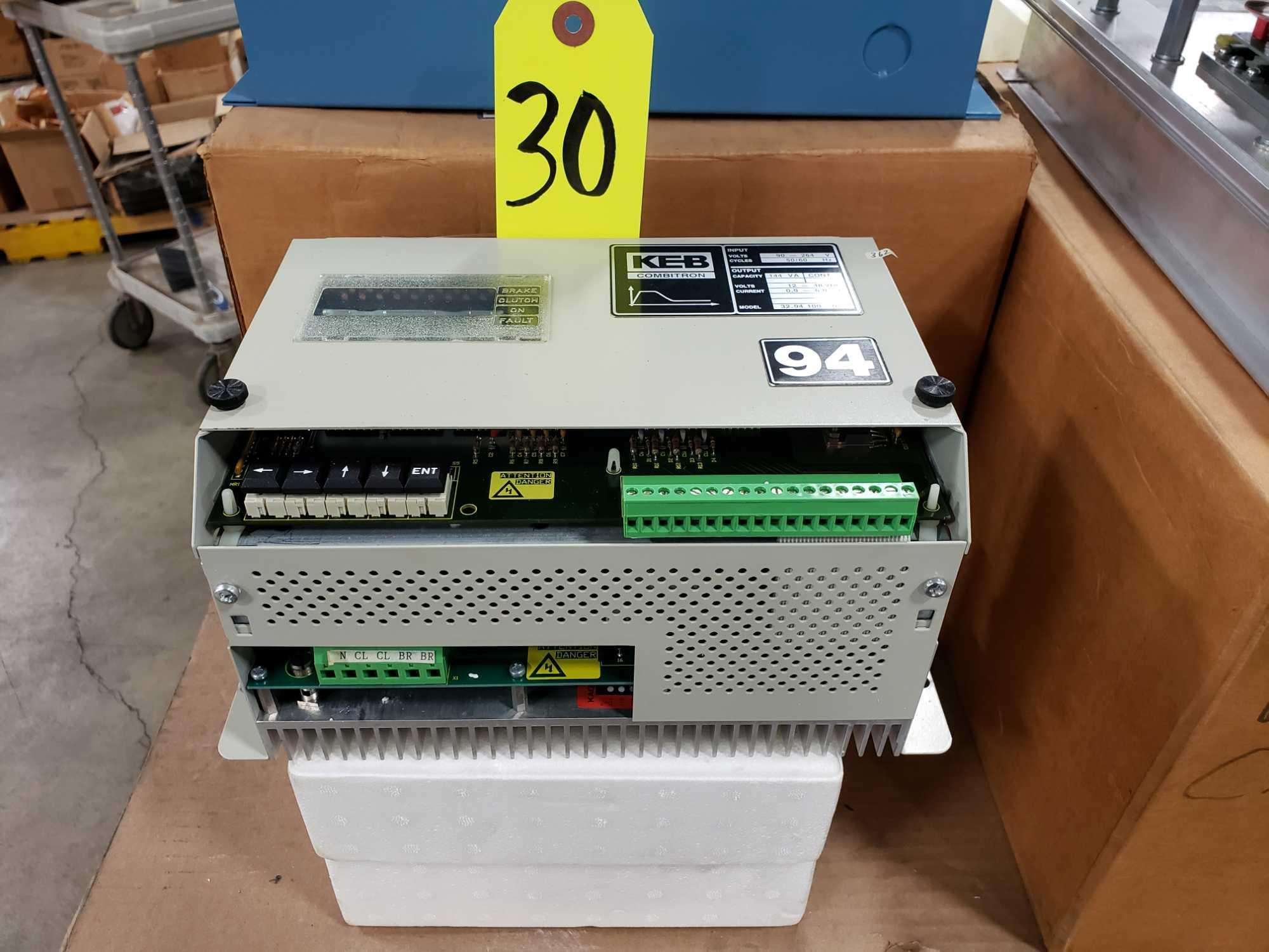 KEB Combitron drive model 32.94.100-0728, 90-264v input, 12-48vdc volt output. New as pictured.