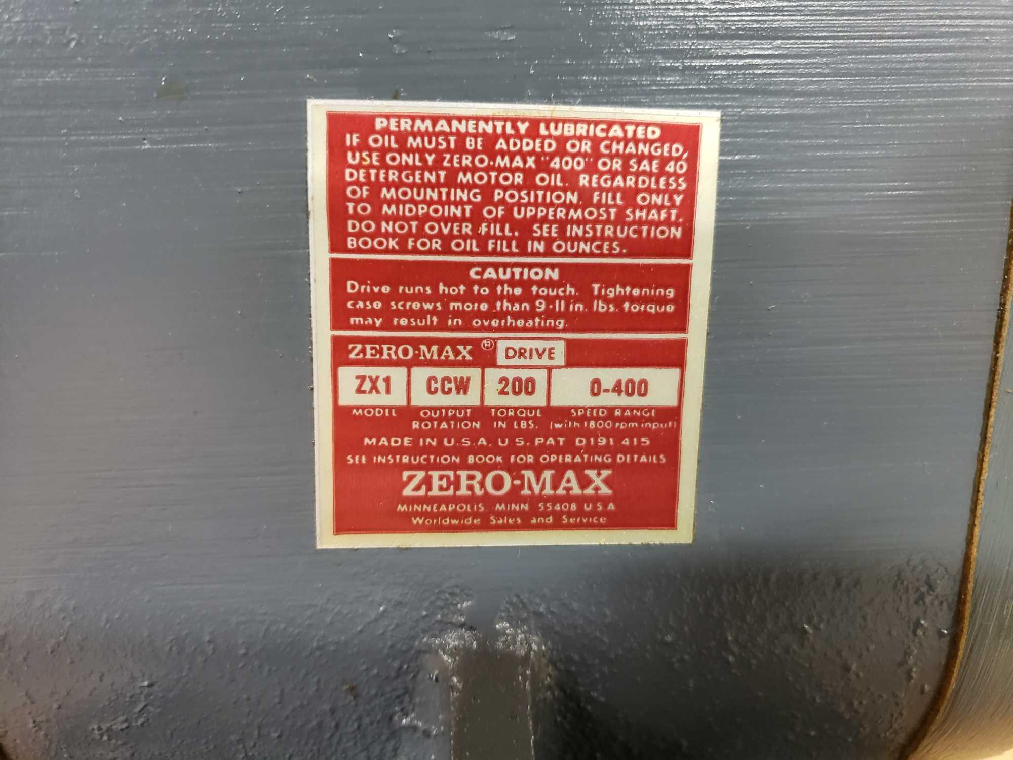 Zero-max drive power block model ZX1, CCW output rotation, 200lb torque, 0-400 speed range. New. - Image 2 of 2