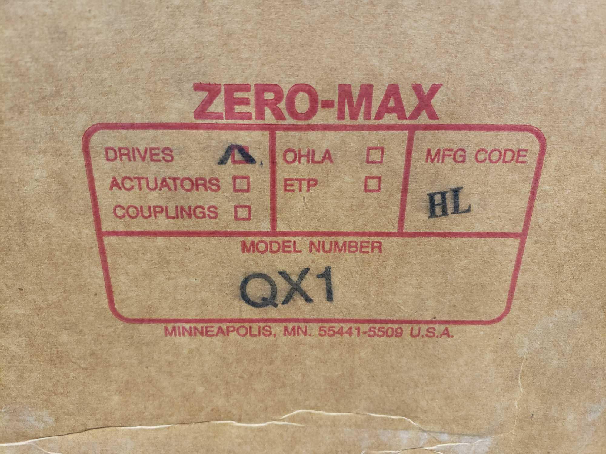 Zero-max drive power block model QX1 CCW output rotation, 100lb torque, 0-400 speed range. New. - Image 3 of 3