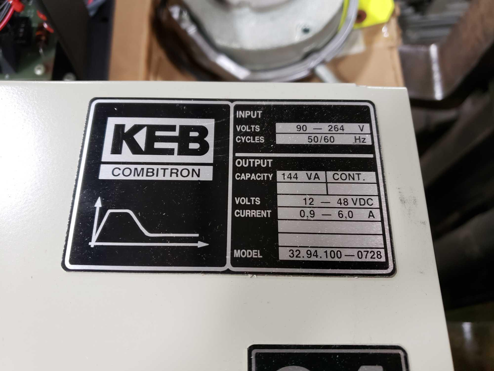 KEB Combitron drive model 32.94.100-0728. 90-264v input, 12-48vdc output. New in box. - Image 2 of 3