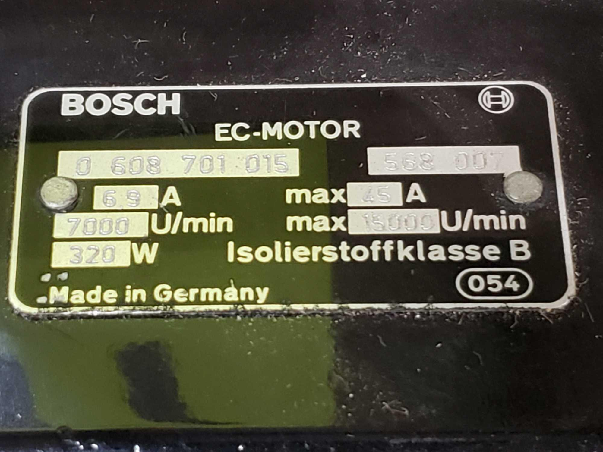 Bosch EC motor model 0-608-701-015. Appears to be new old stock with shelf wear. - Image 2 of 3