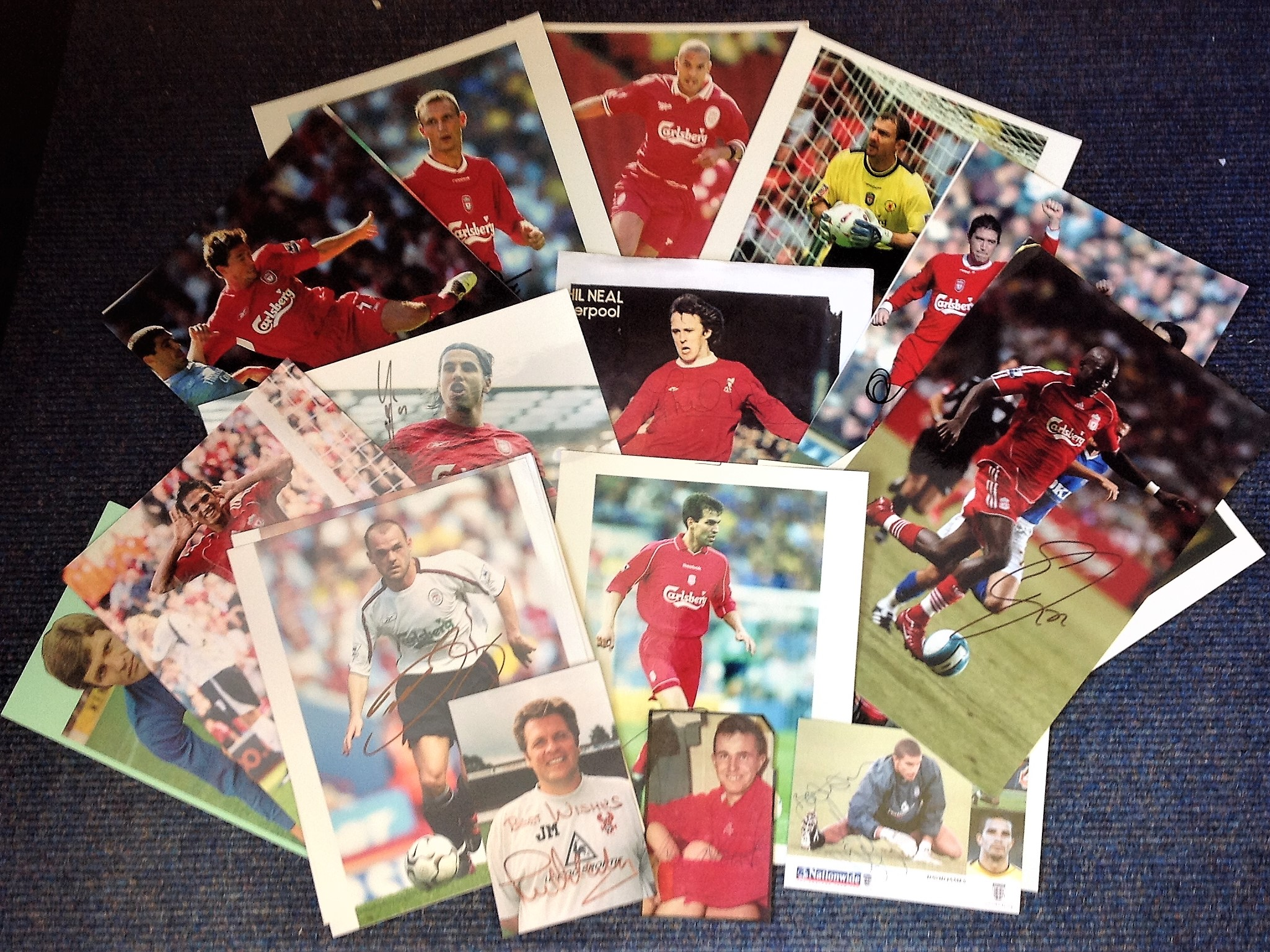 Lot 3 - Football Liverpool collection includes over 20 signatures of players from the past decades