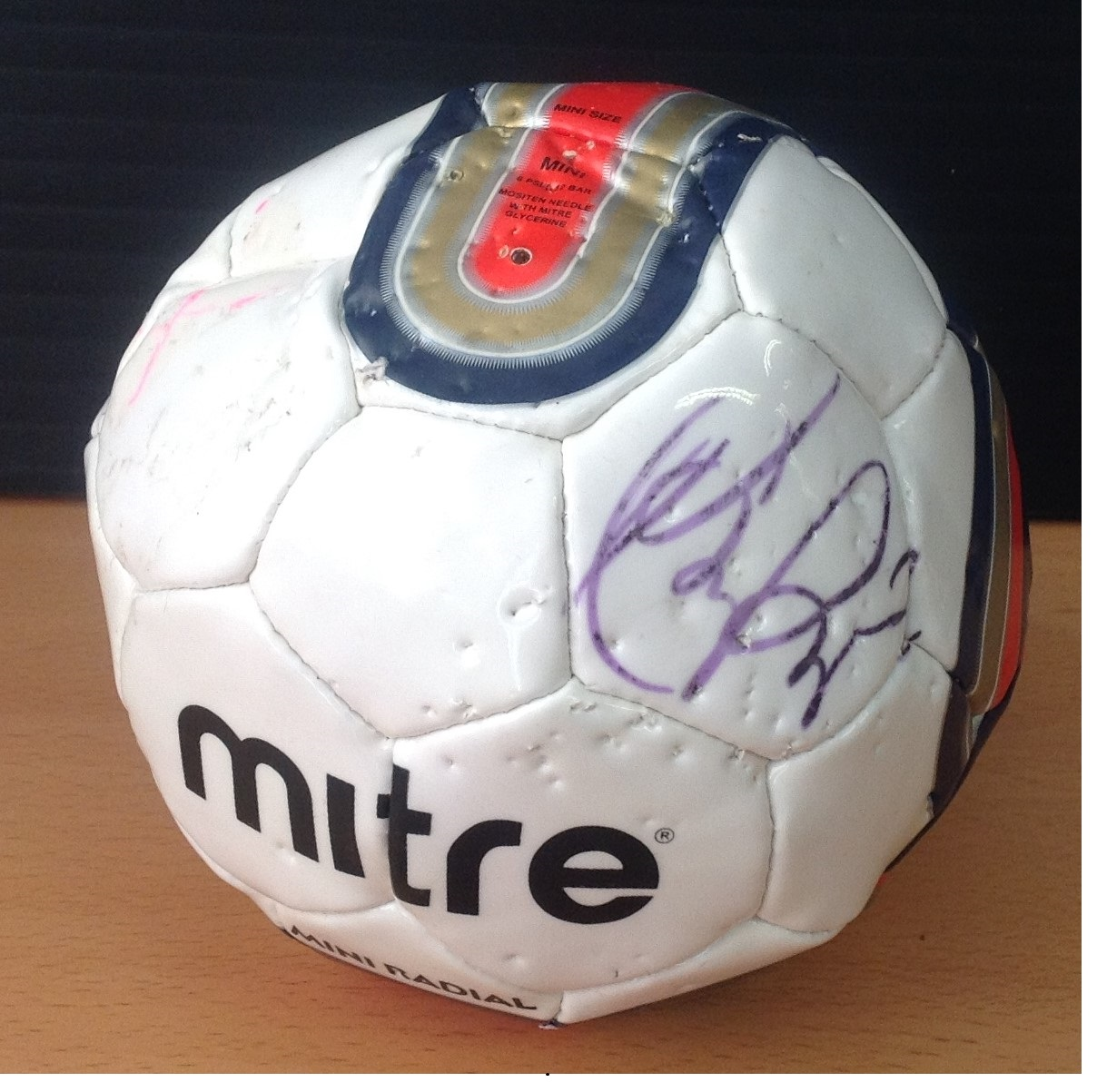 Lot 28 - Football Marcus Rashford signed miniature mitre football. Good condition Est.