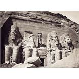 Egypt/Ottoman Empire: Views of Egyptian temples, studio portraits of Turkish women