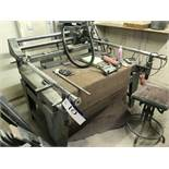 Incimar INCISOGRAFO MC1000 TWO SPEED FLAT BED ENGRAVING MACHINE, with large quantity of assorted