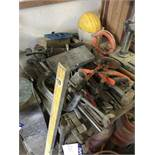 Assorted Hand Tools, including G clamps, hammers, pliers, grease guns, crowbars and drill bits, as