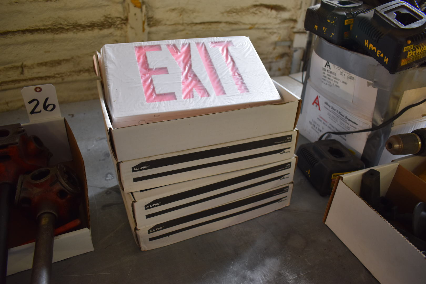 Lot 27A - Lot: (4) All-Pro Model APX Exit Signs