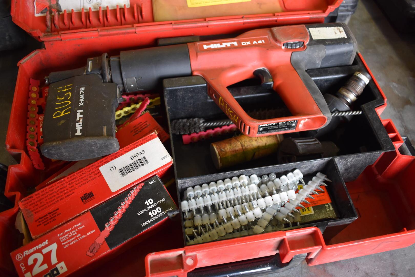 Lot 13 - Hilti Model DX A41 Powder Actuated Nailer & Stud Gun