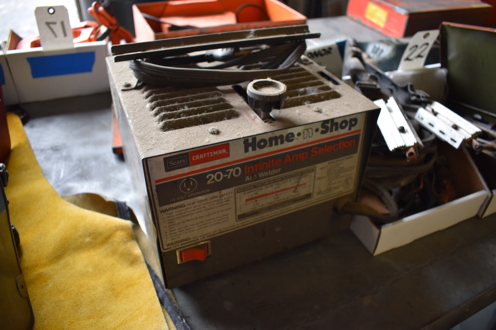 Lot 22 - Sears/Craftsman Home-n-Shop 20-70 Infinite Amp Selection Arc Welder, with Accessories